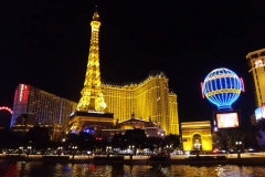 Paris Hotel & Casino At Night In Las Vegas